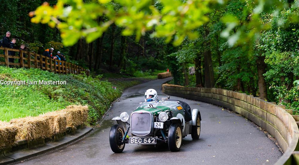 Boness Revival hillclimb motorsport event in Boness, Scotland, UK. The 2019 Bo'ness Revival Classic and Hillclimb, Scotland's first purpose-built motorsport venue, it marked 60 years since double Formula 1 World Champion Jim Clark competed here.  It took place Saturday 31 August and Sunday 1 September 2019. 24 Keith Thomas Buckler Mark 5