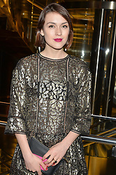 ELLA CATLIFF at the Veryexclusive.co.uk Launch Party held at Watches of Switzerland, 155 Regents Street, London on 20th February 2015.