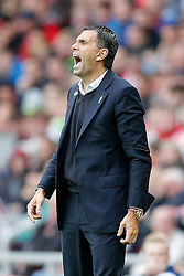 Manager Gustavo Poyet of Sunderland looks animated - Photo mandatory by-line: Rogan Thomson/JMP - 07966 386802 - 27/08/2014 - SPORT - FOOTBALL - Sunderland, England - Stadium of Light - Sunderland v Swansea City - Barclays Premier League.
