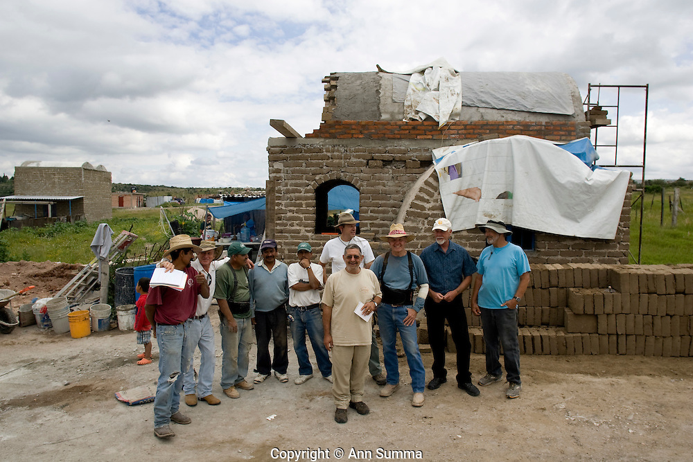 San Miguel de Allende, Guanajuato, Mexico, 8/29/08: Casita Linda is a Mexican non-profit organization, started and run by North Americans, which builds adobe homes for families in extreme poverty (photo: Ann Summa).
