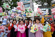 The annual Lotus Lantern Festival is held to celebrate Buddha's Birthday. The big lantern parade from Dongdaemun Stadium to Jogyesa temple.