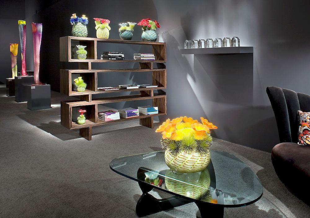"Glass Sculptures displayed at Imagos sister gallery ""studio"" in Palm Desert, CA"