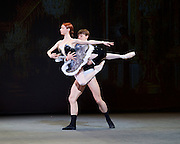 Russian Ballet Icons Gala 2015 <br /> at the Coliseum, London, Great Britain <br /> 8th March 2015 <br /> rehearsals <br /> <br /> Iana Salenko and Marian Walter in Grand Pas Classique <br /> Choreography by Viktor Gzovsky <br /> <br /> <br /> Photograph by Elliott Franks <br /> Image licensed to Elliott Franks Photography Services