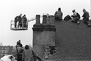 Wanstonia Eviction, an anti-road protest, opposing the construction of the East cross traffic link to the M11, Leytonstone, London, 16th February 1994.