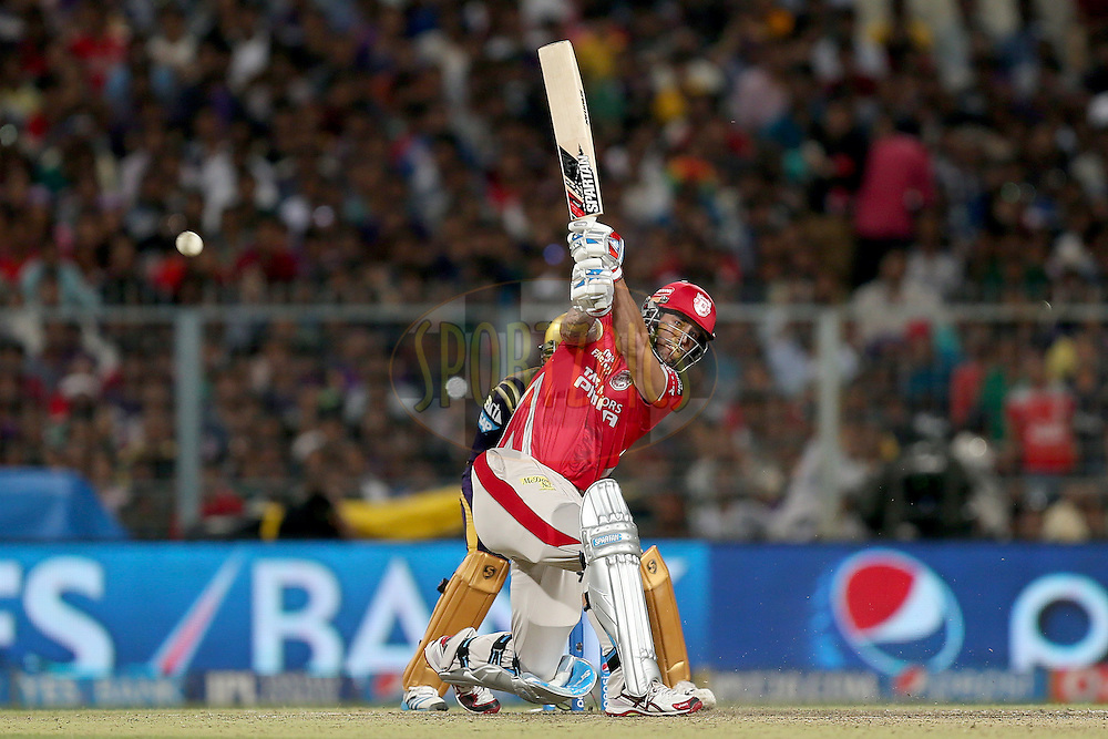 Mitchell Johnson during the first qualifier match (QF1) of the Pepsi Indian Premier League Season VII 2014 between the Kings XI Punjab and the Kolkata Knight Riders held at Eden Gardens Cricket Stadium, Kolkata, India on the 28th May 2014. Photo by Jacques Rossouw / IPL / SPORTZPICS<br /> <br /> <br /> <br /> Image use subject to terms and conditions which can be found here:  http://sportzpics.photoshelter.com/gallery/Pepsi-IPL-Image-terms-and-conditions/G00004VW1IVJ.gB0/C0000TScjhBM6ikg