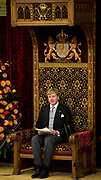 Prinsjesdag 2013 Koning Willem-Alexander leest de troonrede voor in de Ridderzaal op het Binnenhof<br /> <br /> Budget Day 2013 King Willem-Alexander reads the throne speech to the Knights of the Binnenhof<br /> <br /> HANDOUT / POOL/HANDOUT / FRANK VAN BEEK / EDITORIAL USE ONLY.