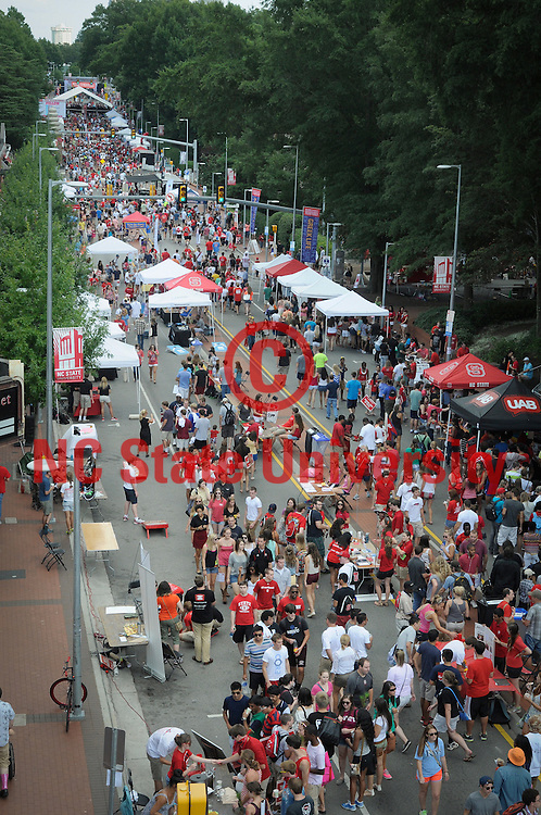 Students enjoy their time at Packapalooza on Hillsborough Street Saturday. Photo by Mark Dearmon
