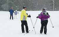 All ages enjoy the Cross Country skiing lessons at Bolduc Park offered by Gilford Parks and Recreation January 21, 2012.