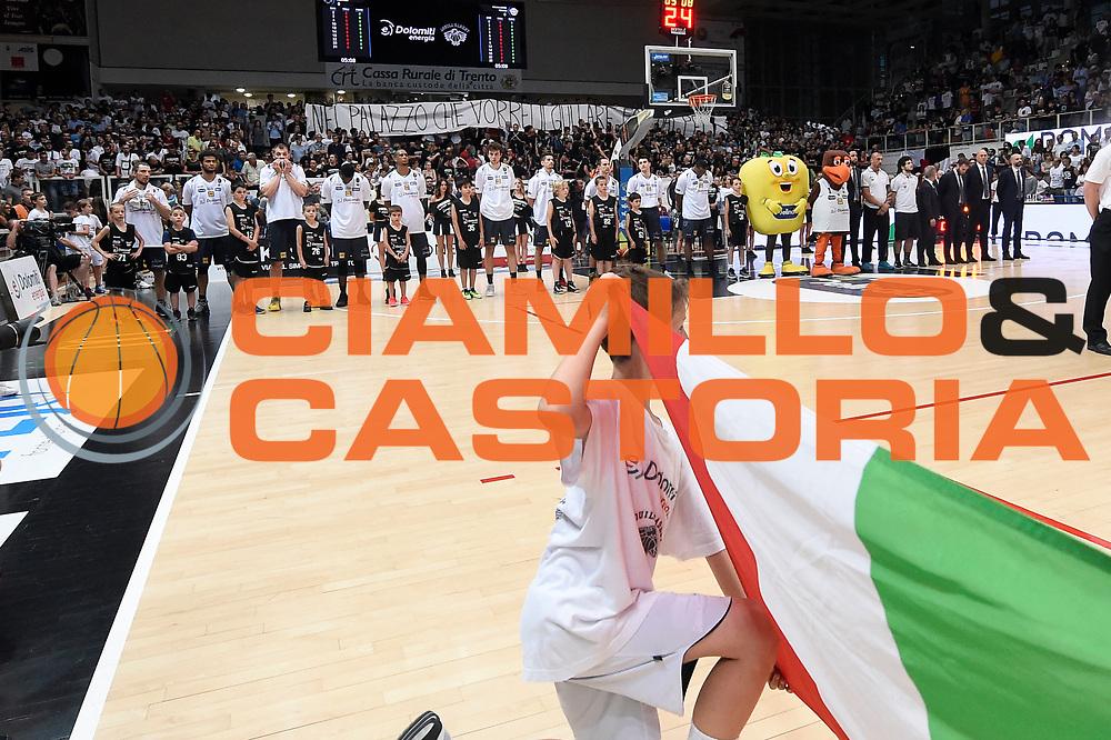 team Dolomiti Energia Aquila Basket Trento<br /> Dolomiti Energia Aquila Basket Trento - Umana Reyer Venezia<br /> Lega Basket Serie A 2016/2017<br /> Playoff, finale gara 3<br /> Trento, 14/06/2017<br /> Foto M.Ceretti / Ciamillo-Castoria