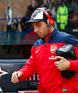 Picture by David Horn/Focus Images Ltd +44 7545 970036<br /> 26/10/2013<br /> Santi Cazorla of Arsenal arriving for the Barclays Premier League match at Selhurst Park, London.
