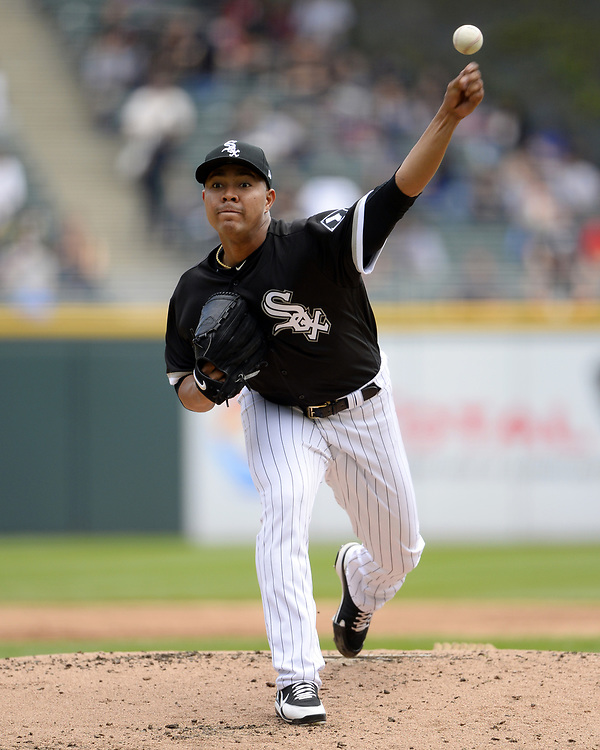 CHICAGO - APRIL 26:  Jose Quintana #62 of the Chicago White Sox pitches against the Kansas City Royals on April 26, 2017 at Guaranteed Rate Field in Chicago, Illinois.  The White Sox defeated the Royals 5-2.  (Photo by Ron Vesely)   Subject:  Jose Quintana