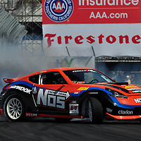 Chris Forsberg  competing in the Formula DRIFT 2012 at Toyota Grand Prix of Long Beach Street Course