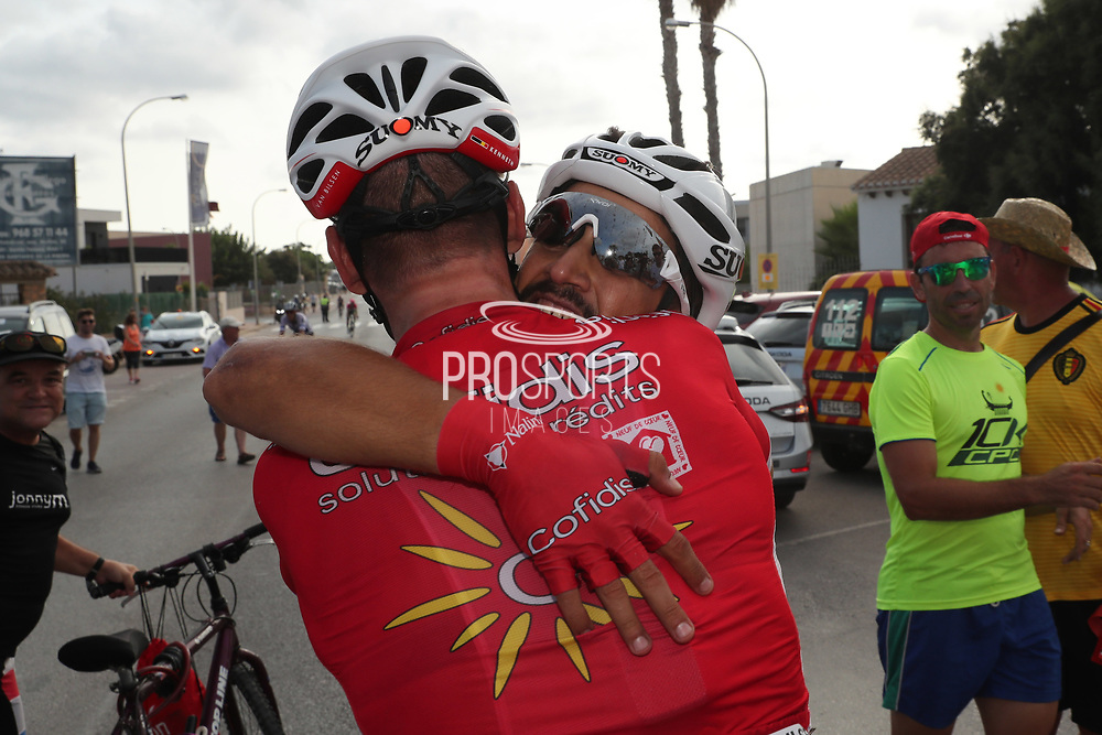 Arrival Nacer Bouhanni (FRA - Cofidis) winner, during the UCI World Tour, Tour of Spain (Vuelta) 2018, Stage 6, Huercal Overa - San Javier Mar Menor 155,7 km in Spain, on August 30th, 2018 - Photo Luis Angel Gomez / BettiniPhoto / ProSportsImages / DPPI