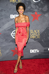 August 6, 2017 - New Jersey, U.S - EBONEE DAVIS, at the Black Girls Rock 2017 red carpet. Black Girls Rock 2017 was held at the New Jersey Performing Arts Center in Newark New Jersey. (Credit Image: © Ricky Fitchett via ZUMA Wire)
