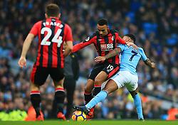 Junior Stanislas of Bournemouth takes on Raheem Sterling of Manchester City - Mandatory by-line: Matt McNulty/JMP - 23/12/2017 - FOOTBALL - Etihad Stadium - Manchester, England - Manchester City v Bournemouth - Premier League