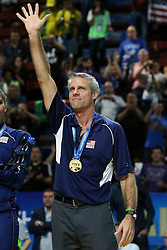 TEAM USA HEAD COACH KARCH KIRALY<br /> AWARDING CEREMONY<br /> VOLLEYBALL WOMEN'S WORLD CHAMPIONSHIP 2014<br /> MILAN 12-10-2014<br /> PHOTO BY FILIPPO RUBIN