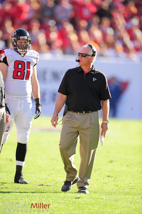 Atlanta Falcons head coach Mike Smith during an NFL game against the Tampa Bay Buccaneers at Raymond James on November 25, 2012 in Tampa, Florida. ...©2012 Scott A. Miller..
