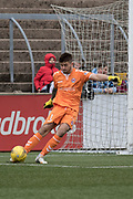 Clyde's (on loan from Dundee) goalkeeper Kyle Gourlay during Forfar's 3-0 win over Clyde in SPFL League Two  at Station Park, Forfar, Photo: David Young<br /> <br />  - &copy; David Young - www.davidyoungphoto.co.uk - email: davidyoungphoto@gmail.com