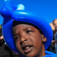 Aaron McCumbee,4, waits for the Paws for People 5K. (Jason A. Frizzelle)