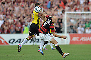 10.03.2013 Sydney, Australia. Wanderers Croatian forward Dino Kresinger in action during the Hyundai A League game between Western Sydney Wanderers and Wellington Phoenix FC from the Parramatta Stadium. The Wanderers won 2-1.