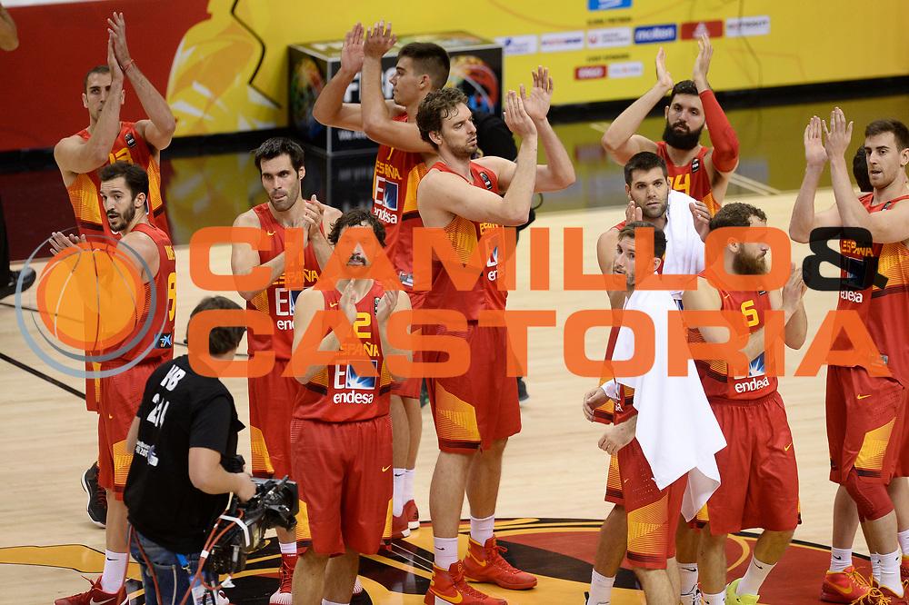 DESCRIZIONE: Berlino EuroBasket 2015 - <br /> Turkey Spain<br /> GIOCATORE: Spain<br /> CATEGORIA: Esultanza<br /> SQUADRA: Spain<br /> EVENTO: EuroBasket 2015 <br /> GARA: Berlino EuroBasket 2015 - Turkey vs Spain<br /> DATA: 06-09-2015 <br /> SPORT: Pallacanestro <br /> AUTORE: Agenzia Ciamillo-Castoria/I.Mancini <br /> GALLERIA: FIP Nazionali 2015 FOTONOTIZIA: Berlino EuroBasket 2015 - Turkey vs Spain