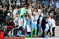 Esultanza Lazio .Lazio vince la Coppa.Celebration .Roma 26/05/2013 Stadio Olimpico.Football Calcio 2012/2013 .Calcio Finale Coppa Italia / Italy Cup Final.Roma Vs Lazio.Foto Andrea Staccioli Insidefoto