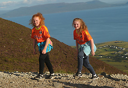 Girl Power…<br />Rebecca and Clodagh Acton from Kilmaine Co Mayo were amoung the many pilgrims that climbed Croagh Patrick on Reek Sunday