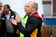Bradford Bulls coach Geoff Toovey applauds his team off after the Kingstone Press Championship match between Sheffield Eagles and Bradford Bulls at, The Beaumont Legal Stadium, Wakefield, United Kingdom on 3 September 2017. Photo by Simon Davies.