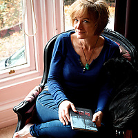 Mary F. McDonough, American-born author, writer, editor, therapist, and communication consultant, photographed at home in Glasgow on October 19, 2014.