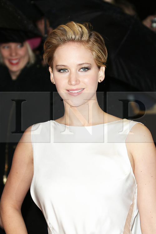 Jennifer Lawrence, The Hunger Games: Catching Fire - World film premiere, Leicester Square, London UK, 11 November 2013, Photo by Richard Goldschmidt © Licensed to London News Pictures. Photo credit : Richard Goldschmidt/Piqtured/LNP