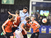 Blackpool player Kelvin Mellor scores the second goal of the second half for Blackpool that takes them to the Wembley final during the EFL Sky Bet League 2 play off second leg match between Luton Town and Blackpool at Kenilworth Road, Luton, England on 18 May 2017. Photo by Ian  Muir.