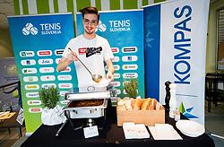 Lovro Presicek, BTC Medot Bozicno novoletni rekreativni teniski turnir dvojic 2019, on January 12, 2019 in BTC Millenium centre, Ljubljana, Slovenia. Photo by Vid Ponikvar / Sportida