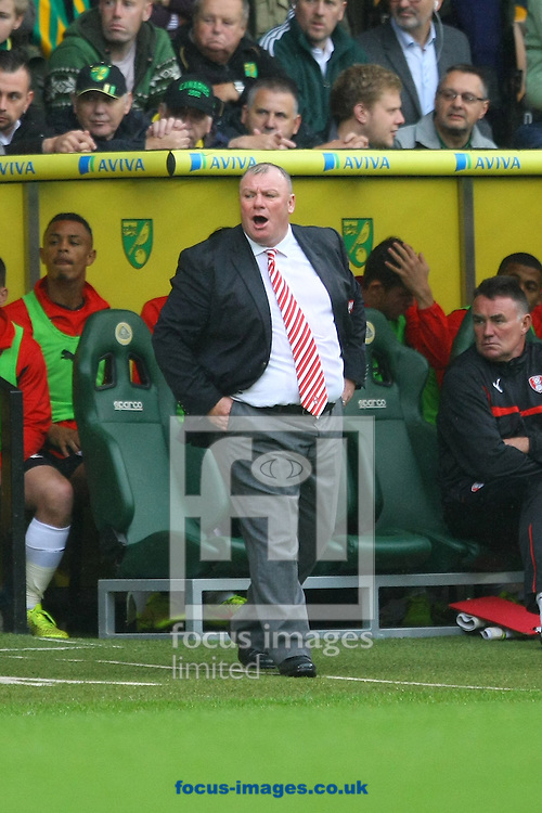 Rotherham United Manager Steve Evans during the Sky Bet Championship match at Carrow Road, Norwich<br /> Picture by Paul Chesterton/Focus Images Ltd +44 7904 640267<br /> 04/10/2014
