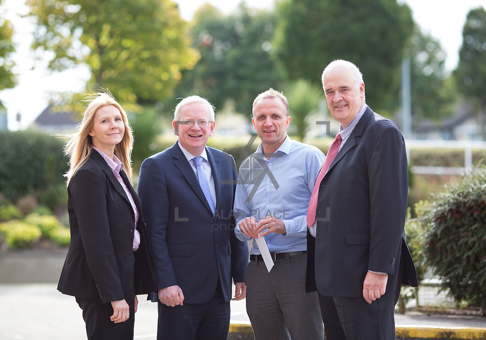 11.10.2016           <br /> Beckman Coulter Scholarship Limerick Institute of Technology. <br /> Pictured are left to right, Karen Kelly, HR manager, Beckman Coulter, Vincent Cunnane, President LIT, Eamon Heaney, 4th year student Bio Analysis and Biotechnology, and Patrick Power, Regional Development Beckman Coulter. Picture: Alan Place