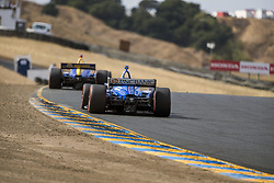 September 14, 2018 - Sonoma, California, United Stated - SCOTT DIXON (9) of New Zealand takes to the track to practice for the Indycar Grand Prix of Sonoma at Sonoma Raceway in Sonoma, California. (Credit Image: © Justin R. Noe Asp Inc/ASP via ZUMA Wire)
