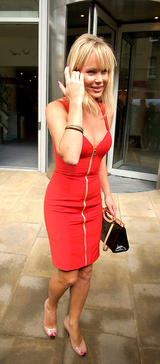 Britains Got Talent judges attend the Media Guardian Edinburgh International Television Festival at the Edinburgh International Conference Centre today...Picture shows Britains Got Talent judge Amanda Holden leaves the Edinburgh International Conference Centre.