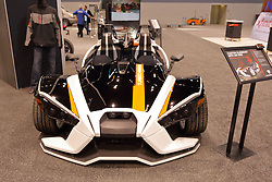 09 February 2017: Polaris Slingshot custom turbo<br /> <br /> First staged in 1901, the Chicago Auto Show is the largest auto show in North America and has been held more times than any other auto exposition on the continent.  It has been  presented by the Chicago Automobile Trade Association (CATA) since 1935.  It is held at McCormick Place, Chicago Illinois<br /> #CAS17