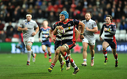 Olly Robinson (c) of Bristol Rugby charges down the pitch - Mandatory by-line: Paul Knight/JMP - 13/01/2017 - RUGBY - Ashton Gate - Bristol, England - Bristol Rugby v Bath Rugby - European Challenge Cup