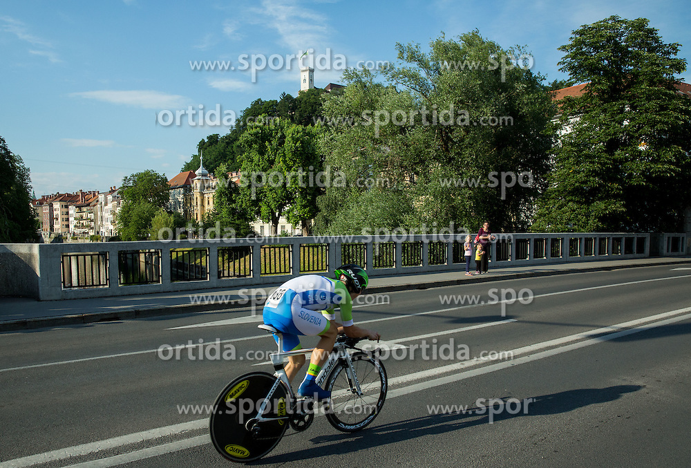 GROŠELJ Matic of Slovenia competes during Stage 1 of 22nd Tour of Slovenia 2015 - Time Trial 8,8 km cycling race in Ljubljana  on June 18, 2015 in Slovenia. Photo by Vid Ponikvar / Sportida