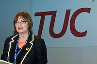Christine Blower speaking at the TUC Conference 2008..© Martin Jenkinson, tel 0114 258 6808 mobile 07831 189363 email martin@pressphotos.co.uk. Copyright Designs & Patents Act 1988, moral rights asserted credit required. No part of this photo to be stored, reproduced, manipulated or transmitted to third parties by any means without prior written permission