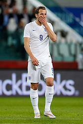 Harry Kane of England looks frustrated - Photo mandatory by-line: Rogan Thomson/JMP - 07966 386802 - 31/03/2015 - SPORT - FOOTBALL - Turin, Italy - Juventus Stadium - Italy v England - FIFA International Friendly Match.