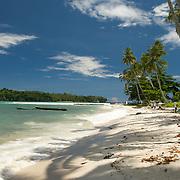 White sandy beach in West-Papua.