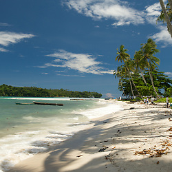 White sandy beach in West-Papua.