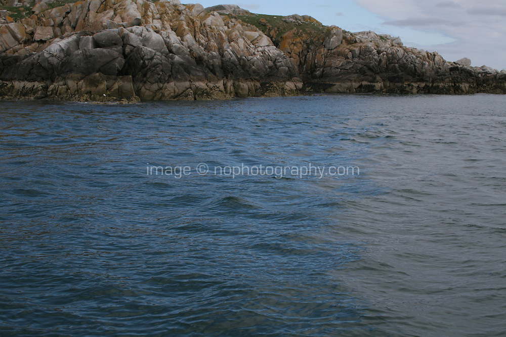 Coastline rocks at Killiney Bay in Dublin Ireland