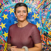 Brussels, Belgium - 20 November 2017<br /> Margrethe Vestager - European Commissioner for Competition.<br /> Photo: Ezequiel Scagnetti
