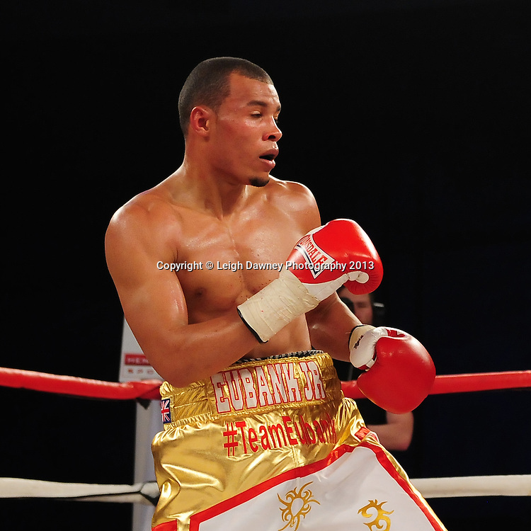 Chris Eubank Jnr (pictured) during a Middleweight contest against Tyan Booth at Glow, Bluewater, Dartford, Kent, UK on 8th June 2013. Promoter: Hennessy Sports. Mandatory Credit: © Leigh Dawney