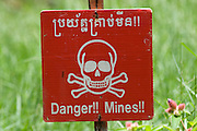 Mine Field warning - Cambodia