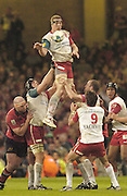 Cardiff, WALES.  Biarritz's, Imanol Harinordoquy, collects the line out ball, during the  2006 Heineken Cup Final,  Millennium Stadium,  between Biarritz Olympique and Munster,  20.05.2006. ? Peter Spurrier/Intersport-images.com,  / Mobile +44 [0] 7973 819 551 / email images@intersport-images.com.   [Mandatory Credit, Peter Spurier/ Intersport Images].14.05.2006   [Mandatory Credit, Peter Spurier/ Intersport Images].