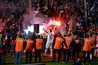 Supporters de Bordeaux  / Fumigenes  / Adieux Marc Planus - 09.05.2015 - Bordeaux / Nantes  - 36eme journee de Ligue 1<br />Photo :  Caroline Blumberg / Icon Sport