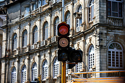INDIA MUMBAI 28MAY10 - LED traffic lights in Mumbai, India...jre/Photo by Jiri Rezac..© Jiri Rezac 2010